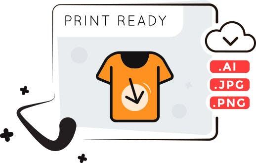 Print-ready t-shirt design
