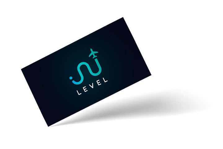 Business card with a logo design