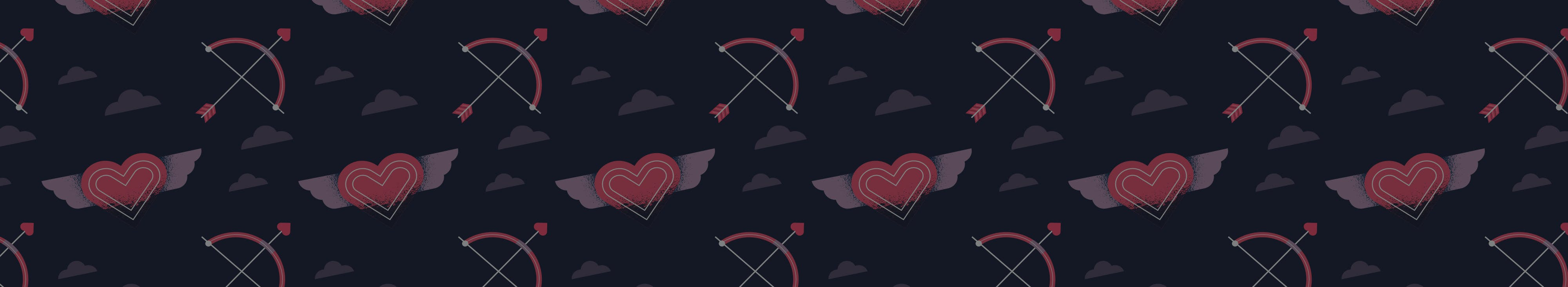 Valentine's Day pattern background design for header