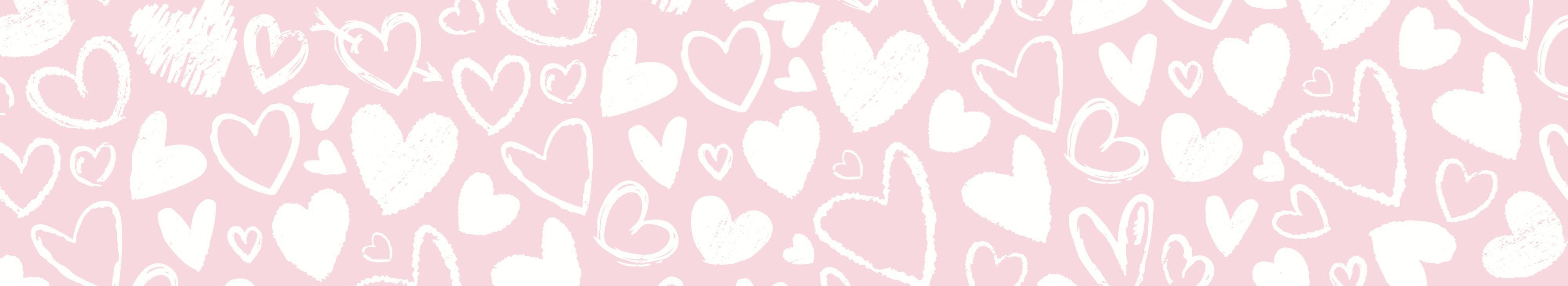 Heart pattern background header