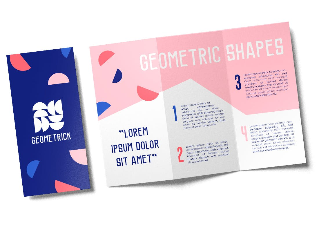 Closed and open brochure template