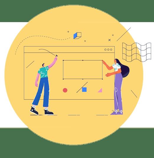 Illustration einer Designanfrage