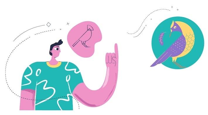 Ilustração de um pedido de design