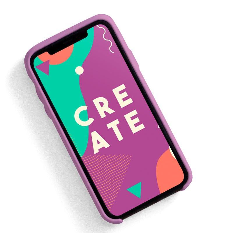 Social Media Templates design in phone