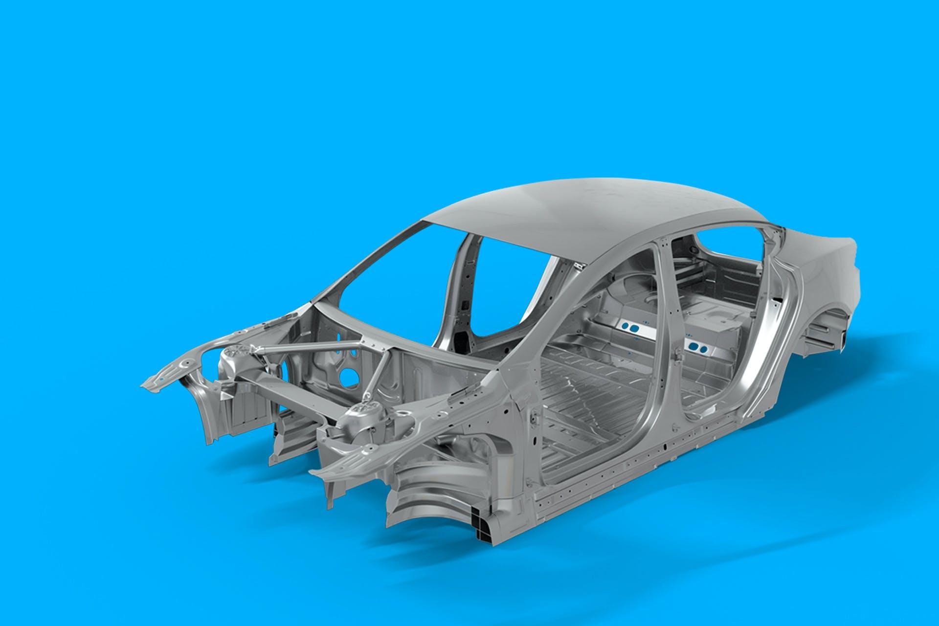 فحص درزات اللحام في تصنيع هياكل السيارات