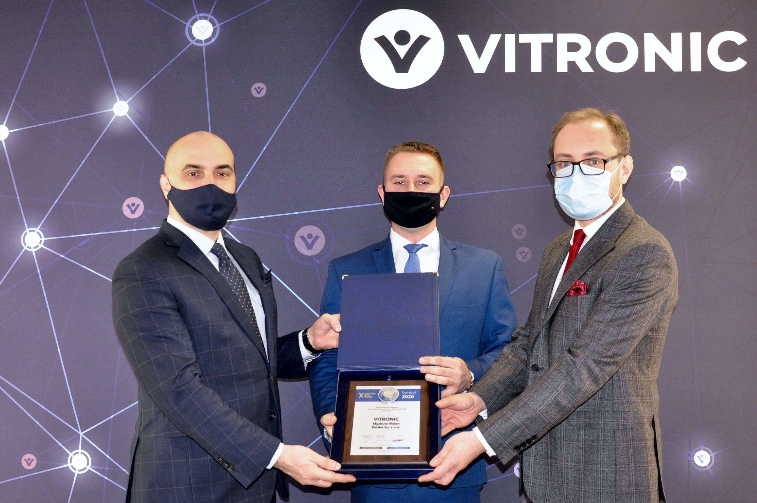 Symbol Nowoczesnych Technologii 2020 dla VITRONIC