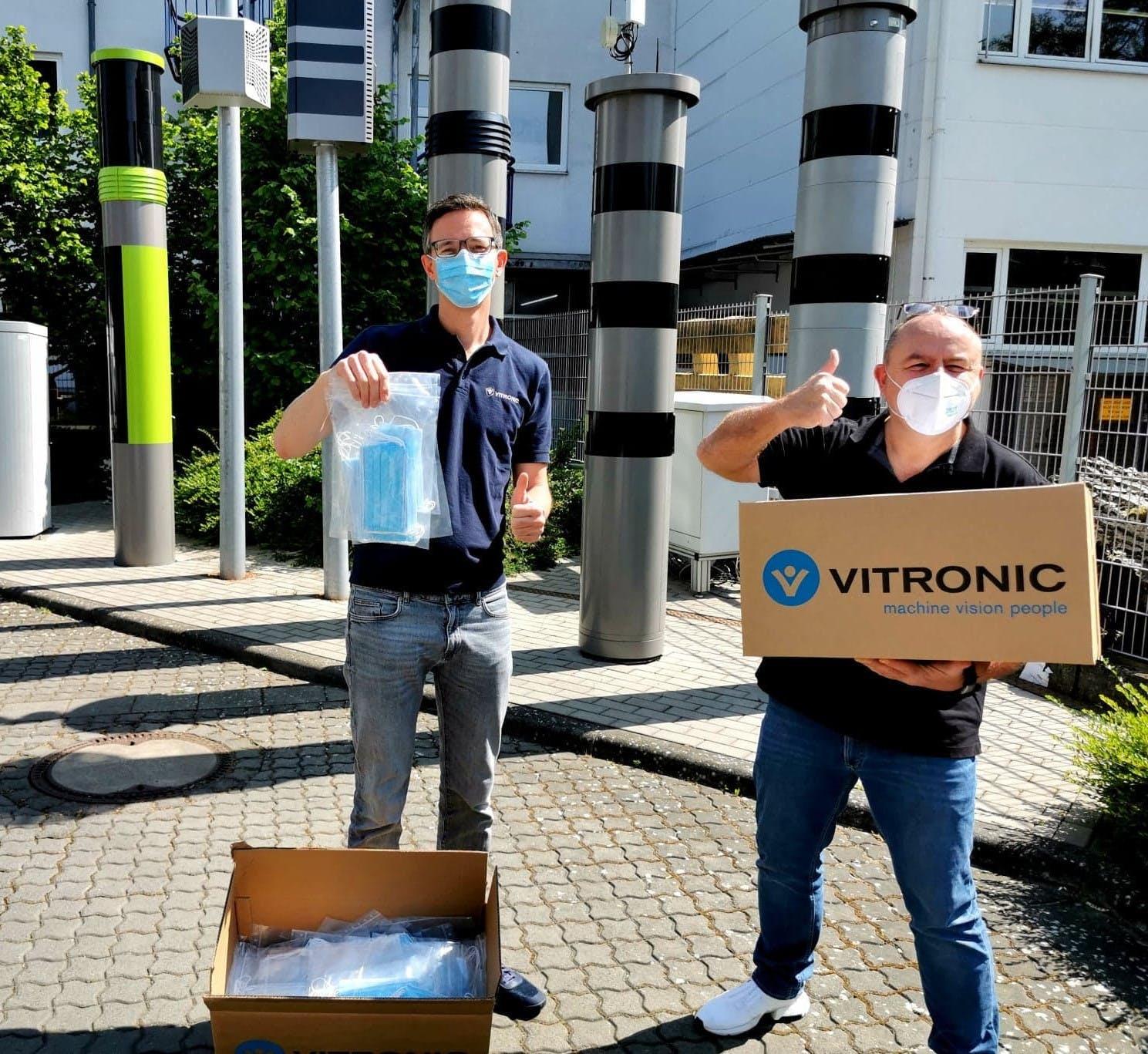 VITRONIC organisiert Mund-Nasen-Masken für soziale Einrichtungen in Wiesbaden