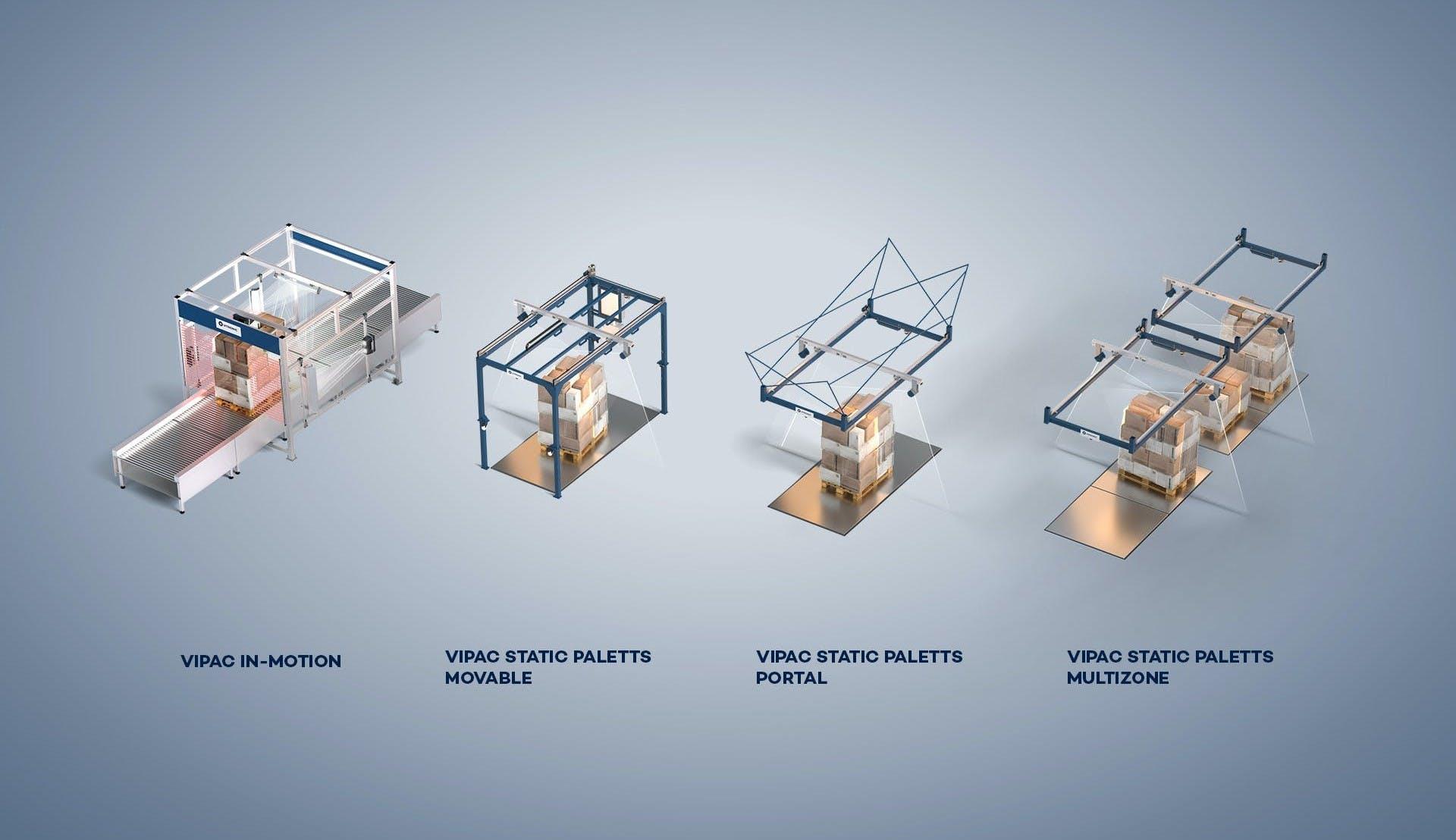 Die flexible VIPAC Systemfamilie von VITRONIC optimiert Prozesse bei der Vermessung von Paletten.