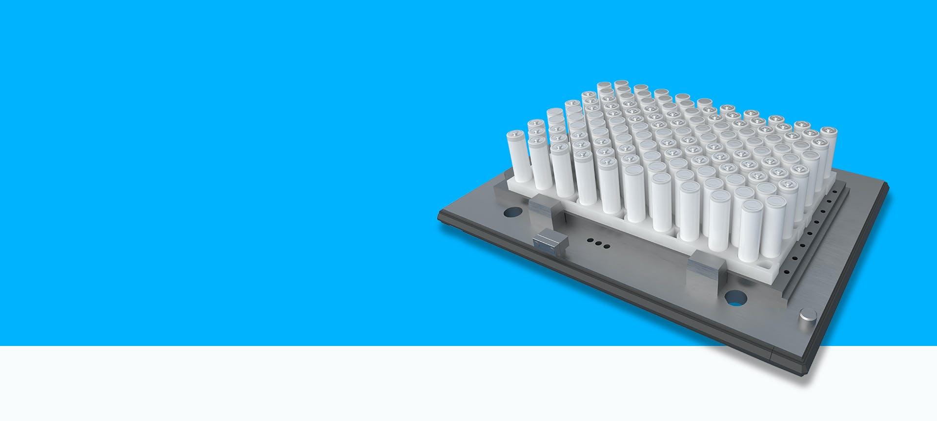 Automatische Prozesskontrolle in der Batteriefertigung durch VINSPEC Prüfsysteme von VITRONIC