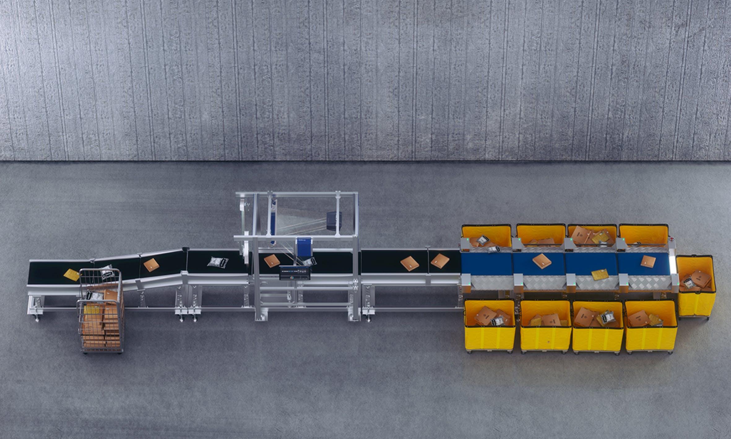 VITRONIC presents a complete solution for parcel logistics