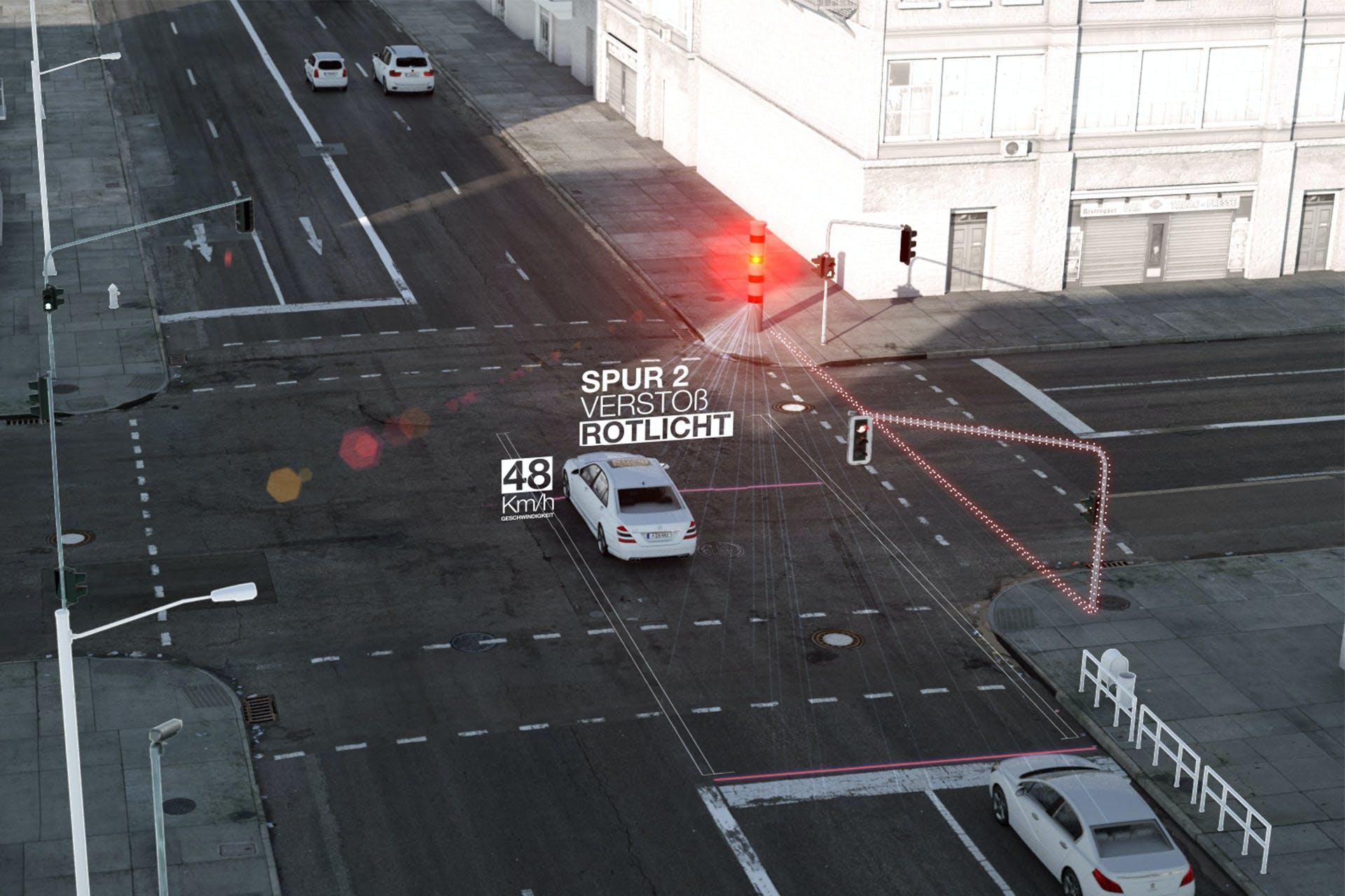 Präzise stationäre Rotlichtüberwachung.