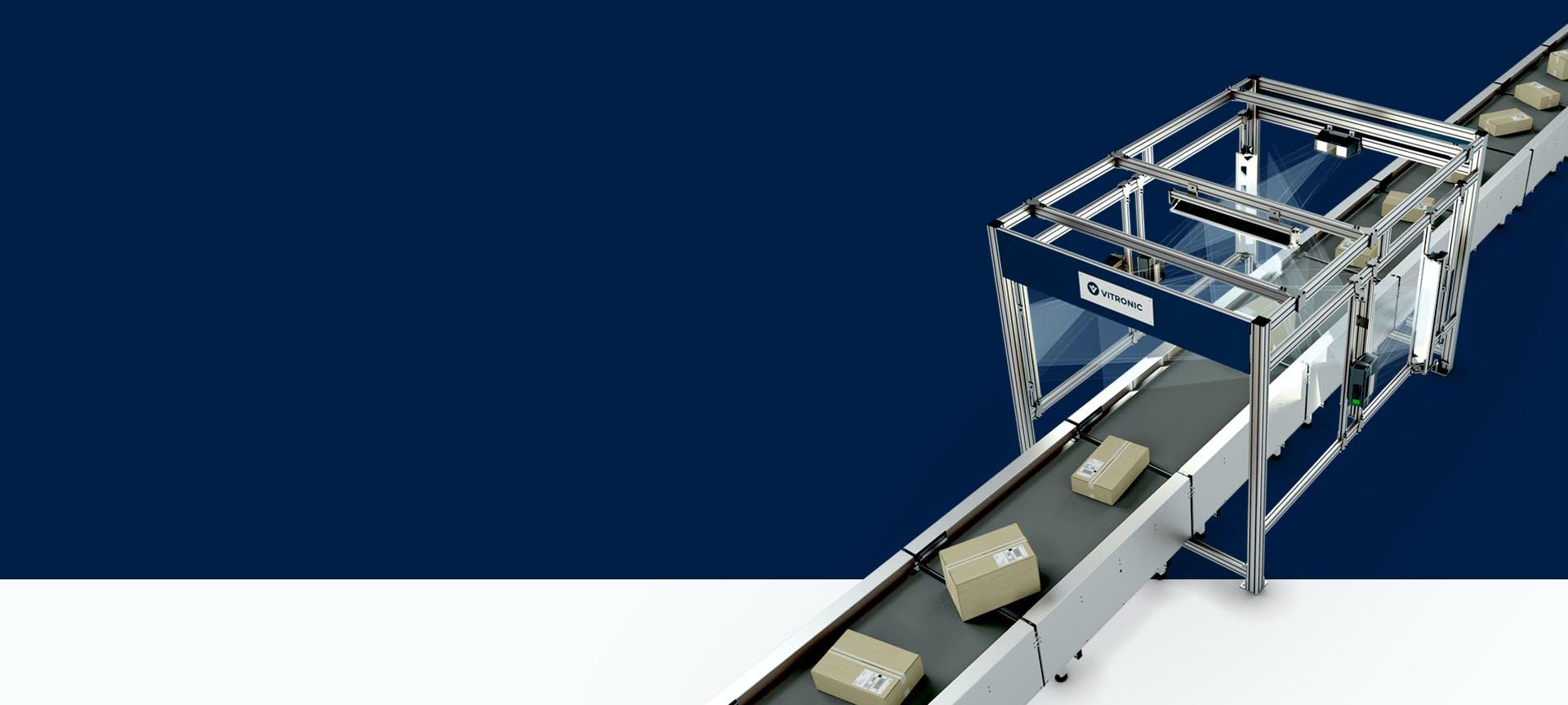 Eine Auto-ID-Komplettlösung mit Förderband für Warenausgang und Kommissionierung