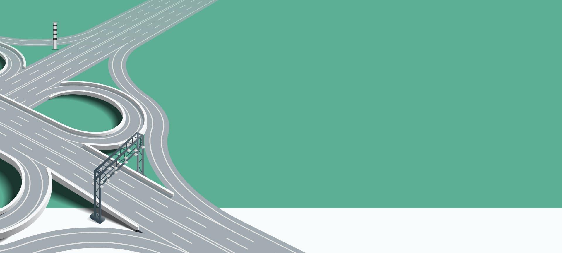 نظام  حساب وتحصيل رسوم الطريق المستندة إلى المسافة على الجسور