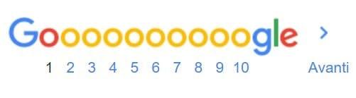 motore di ricerca pagine google
