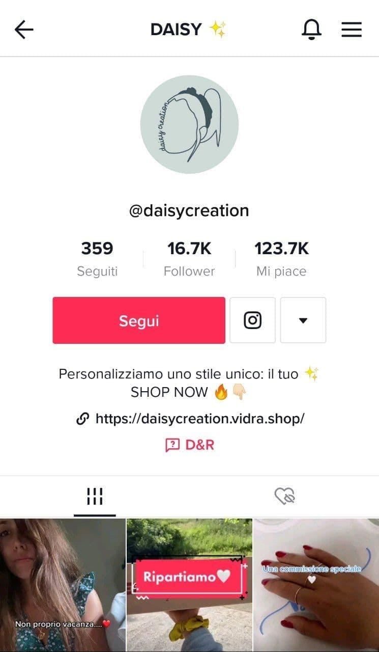 tik tok account Daisy Creation