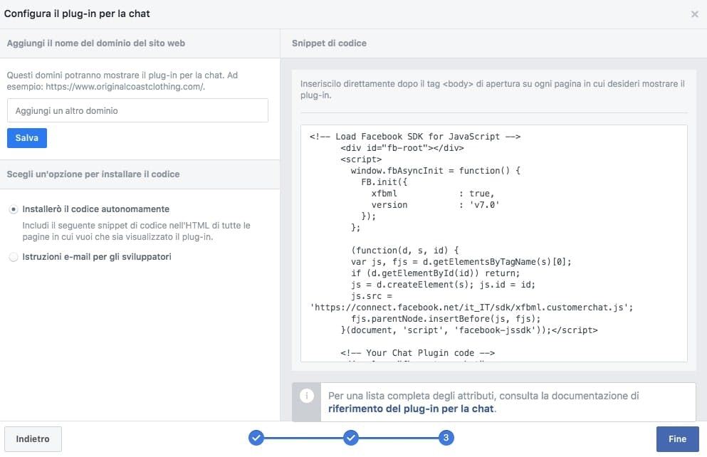 come ricavare il codice identificativo della tua facebook chat