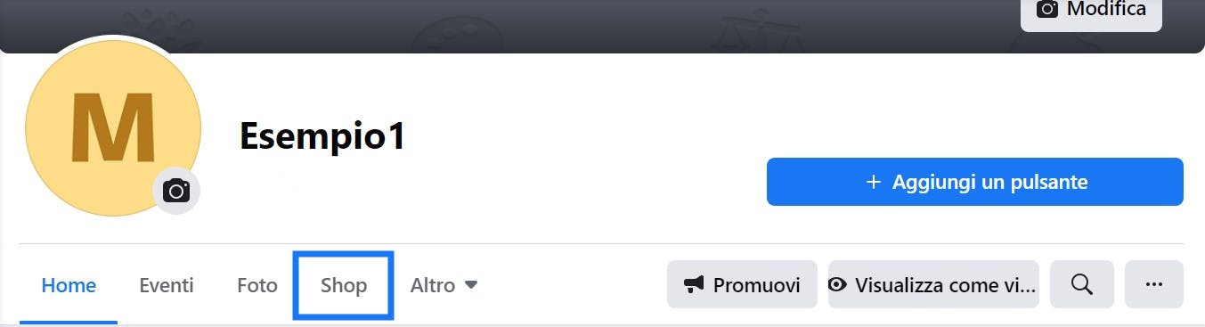 crea la tua vetrina online facebook