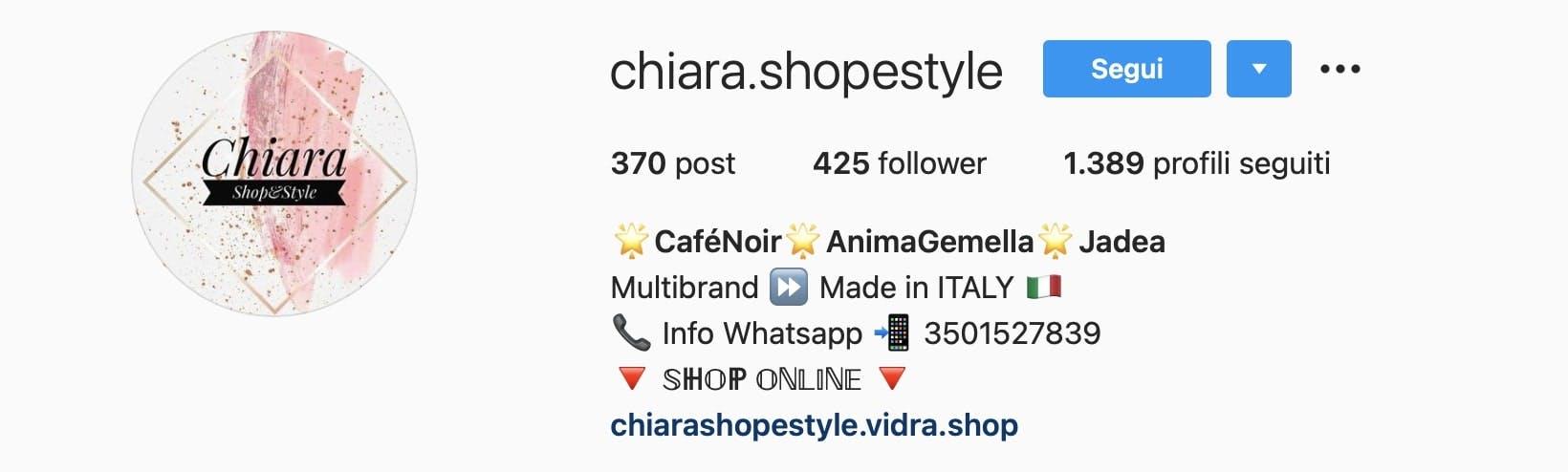 biografia instagram aggiungere link sito web