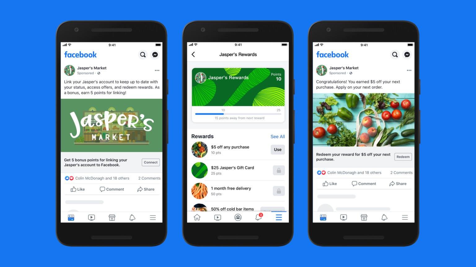 facebook shops programma fedeltà e raccolta punti