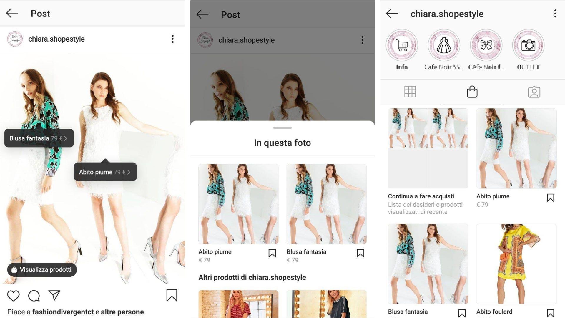come funziona instagram shopping