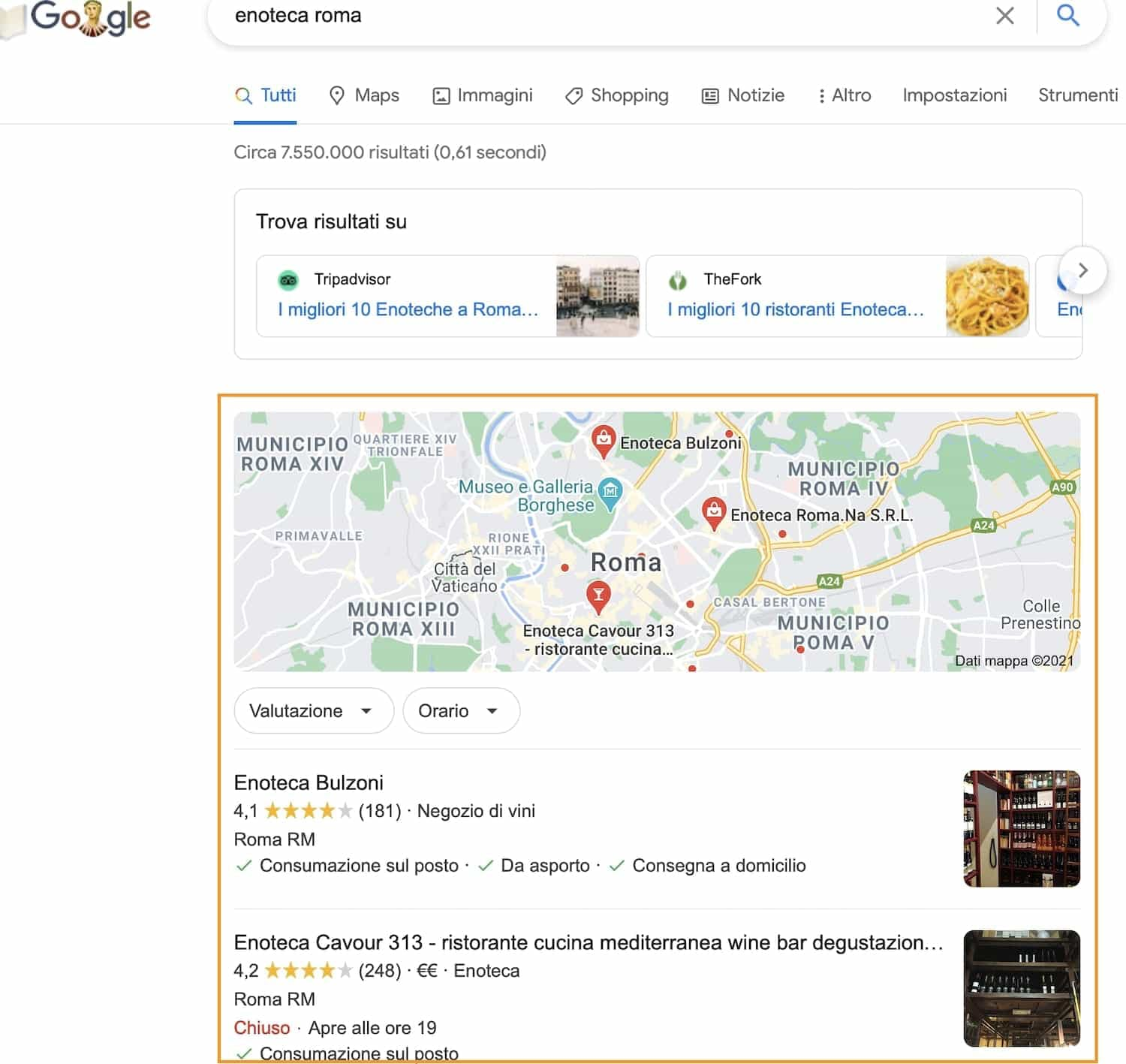 pubblicizzare un ecommerce google my business