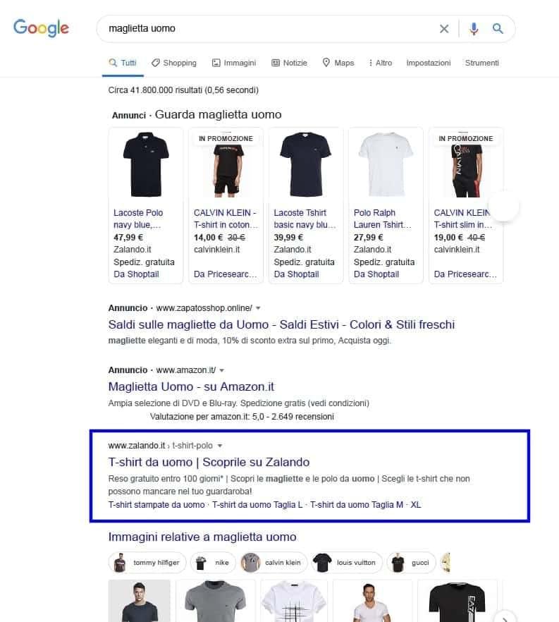 motore di ricerca risultati a pagamento