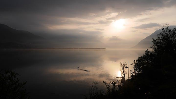 Lake Ascona in the morning
