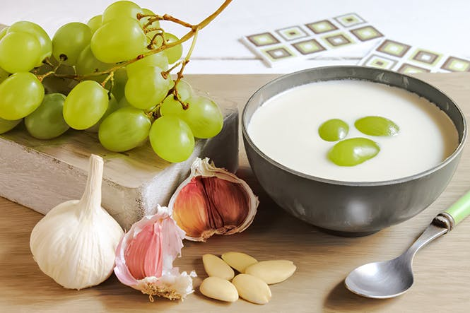 <p>Ajo Blanco White Garlic Gazpacho</p> -  Andalucia