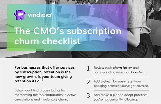 The CMO's subscription churn checklist