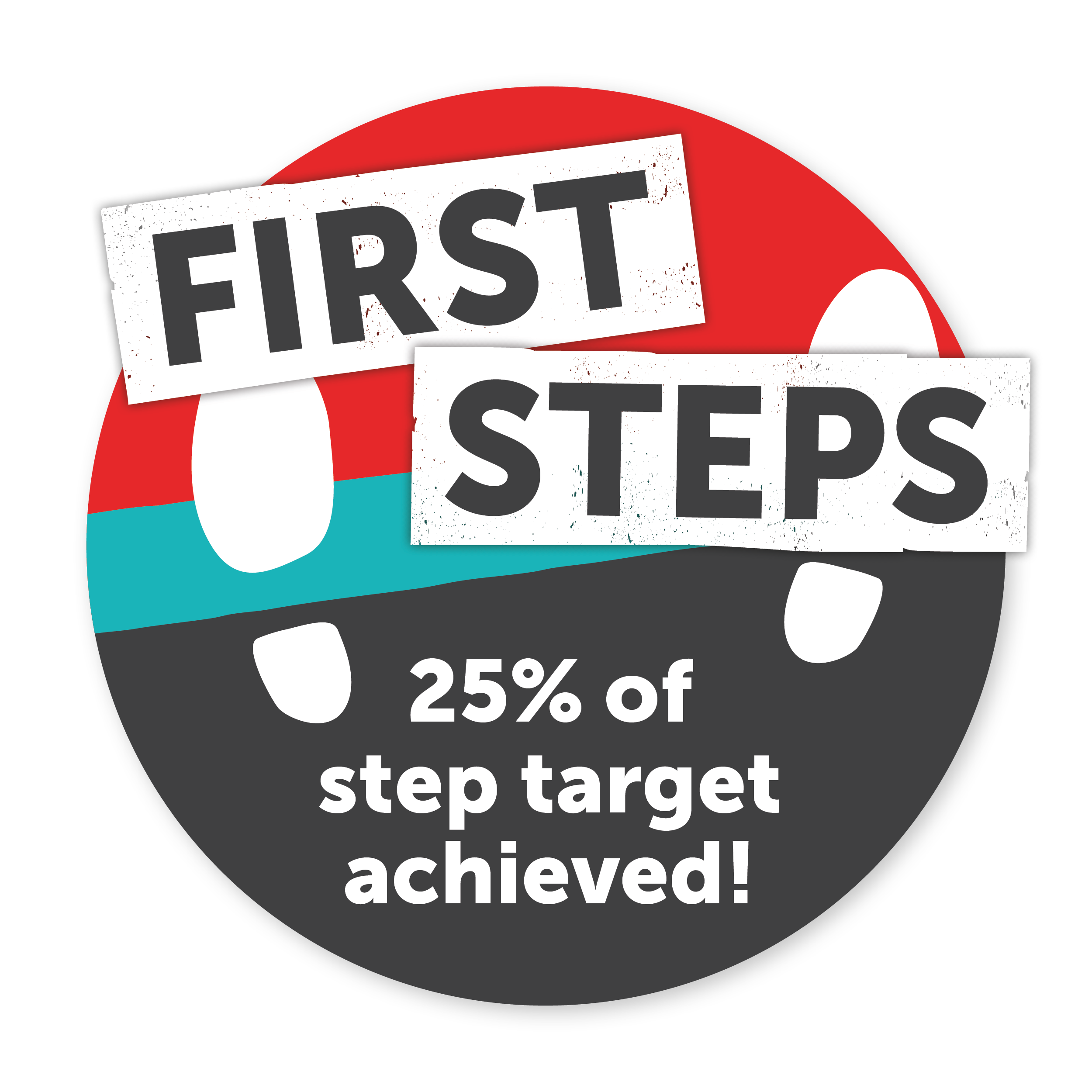 25% of step target achieved