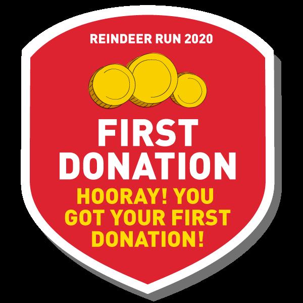 1st donation!