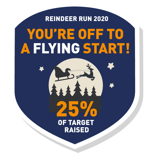 You've raised 25% of your target.