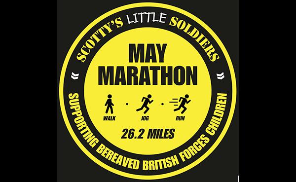 Scotty's Little Soldier's May Marathon logo