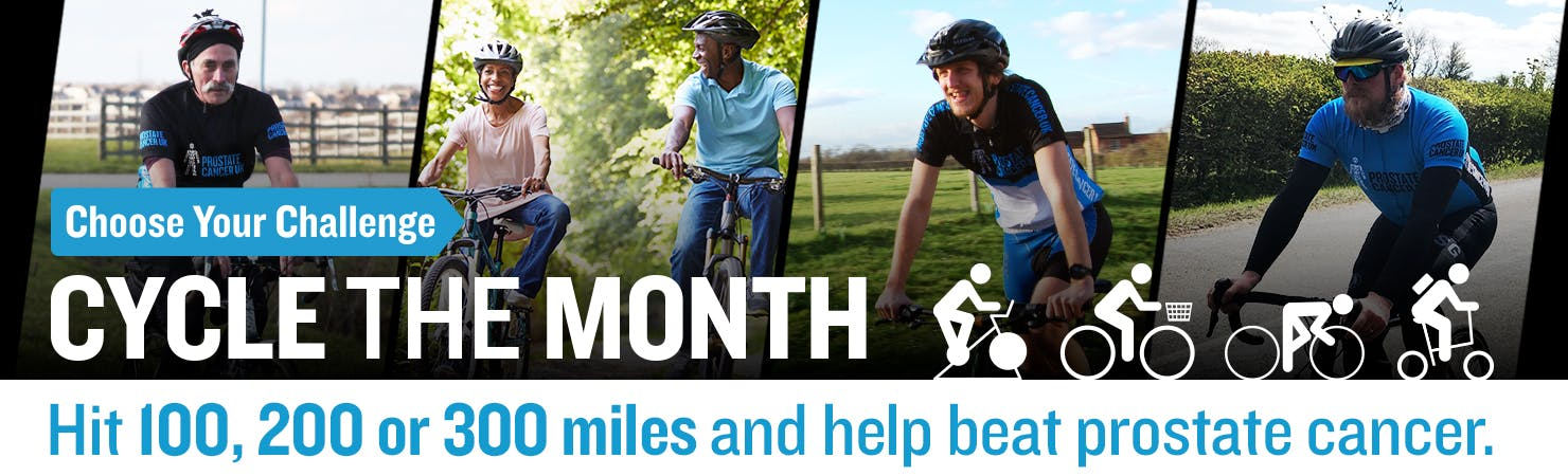 Prostate Cancer Uk - Cycle the Month - Pictures of Cyclists