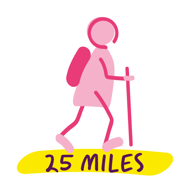 25 miles complete