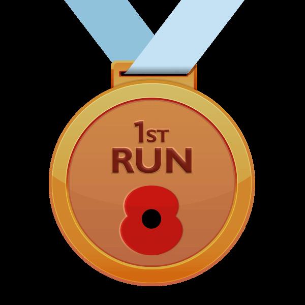 1st Run Poppy Run Medal
