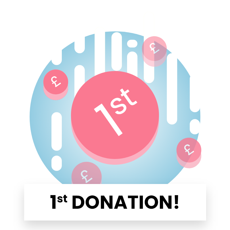 Reward Badge - 1st donation received