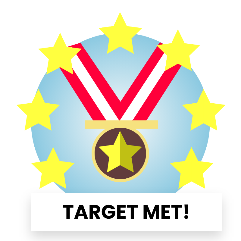 Reward Badge - Fundraising target met