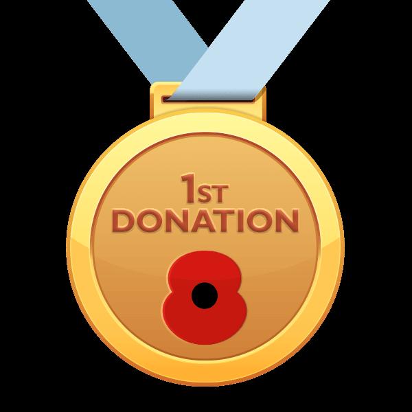 1st Donation Poppy Run Medal