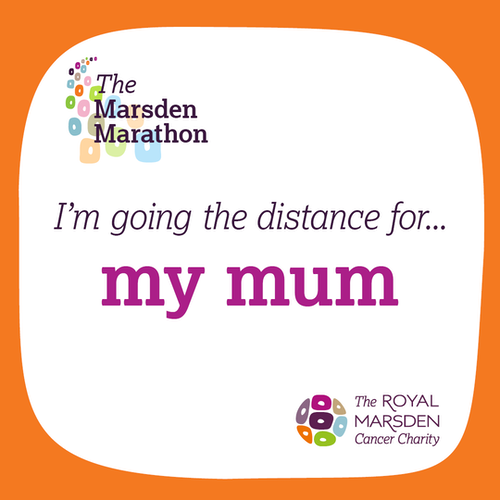 Going the distance for Mum sign