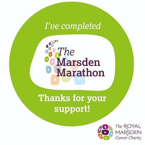 I've completed Marsden Marathon social badge