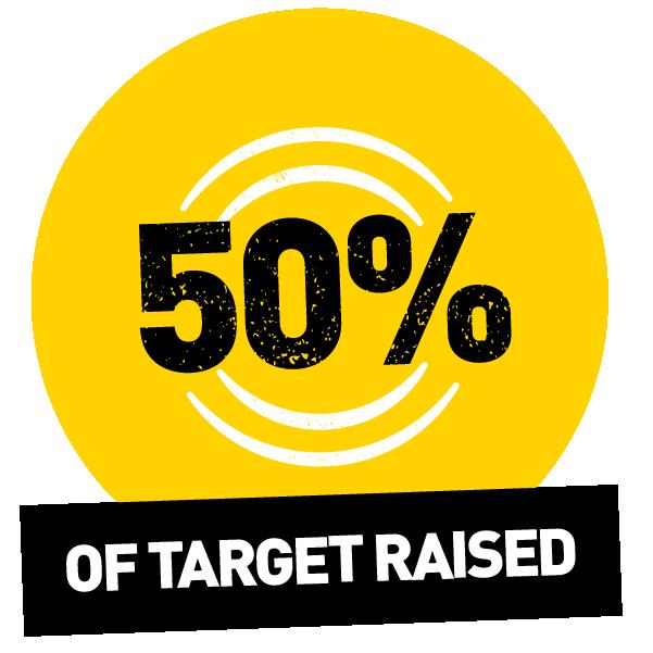 50% raised