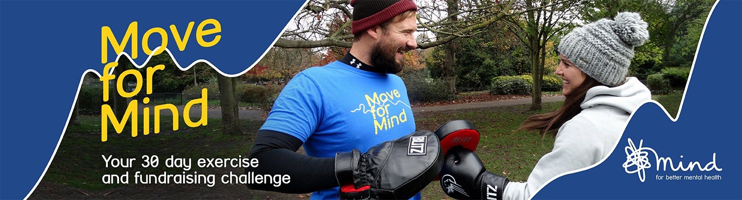 Move for Mind - people in park boxing training.