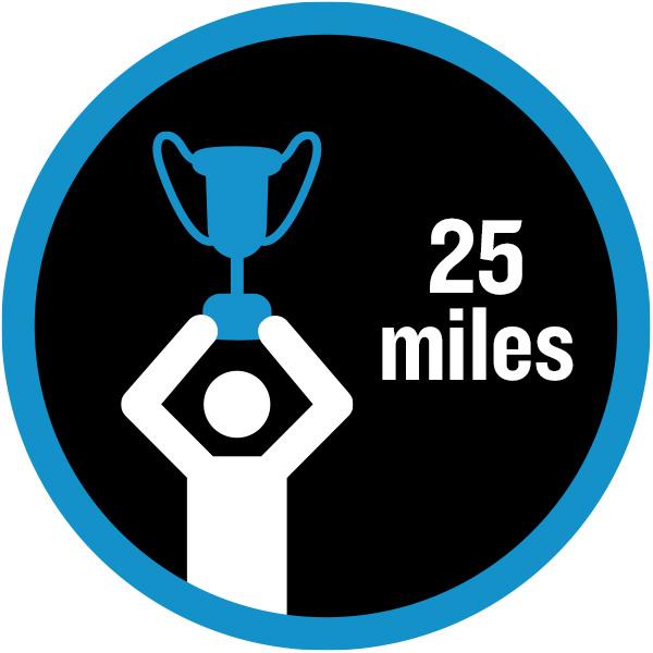 25 miles badge