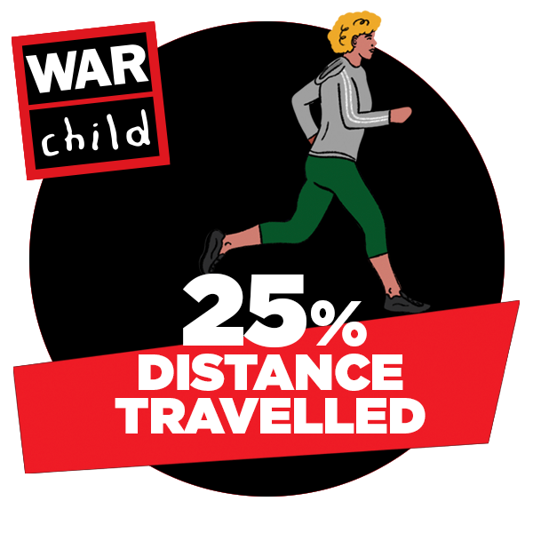 25% of distance travelled