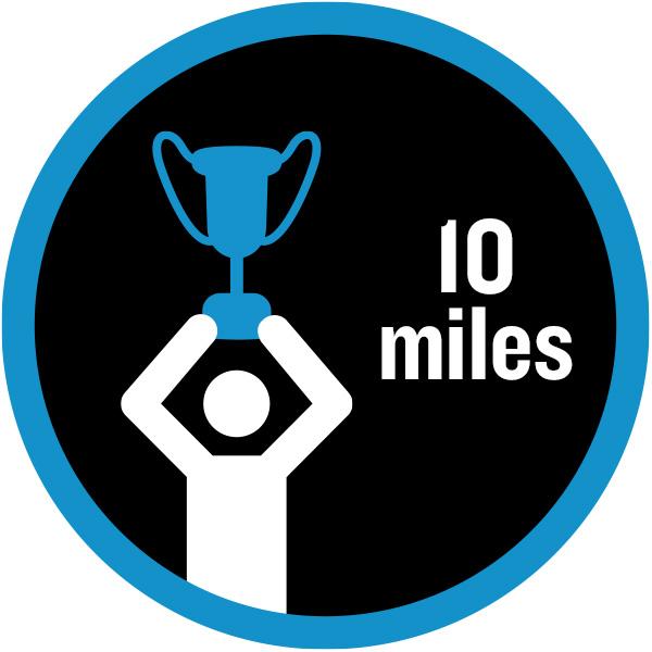 10 miles badge