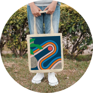 A person carrying a tote bag