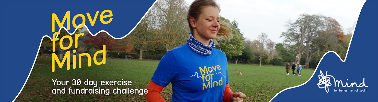 Move for Mind - woman running in park