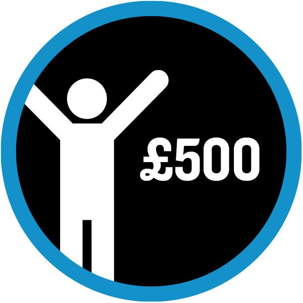 £500 badge