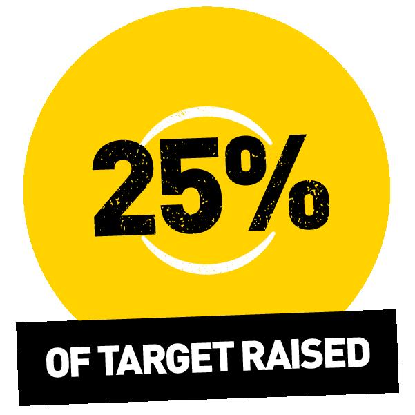 25% raised